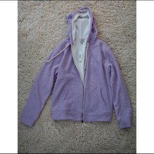 J Crew Vintage Lavender ZipUp Hoodie